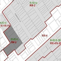 excerpt from Oakland Zoning Map