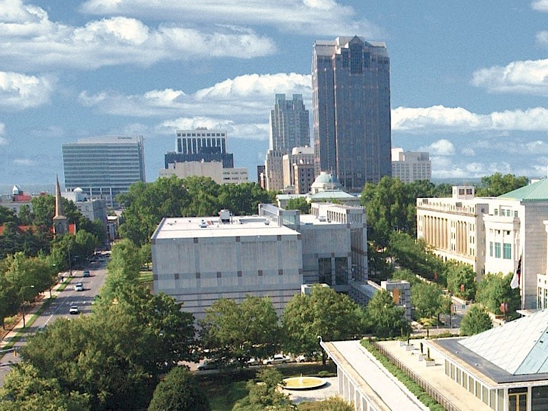 Photograph of downtown Raleigh, NC